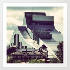 The new building of the Nation Library of Latvia in Riga Art Print