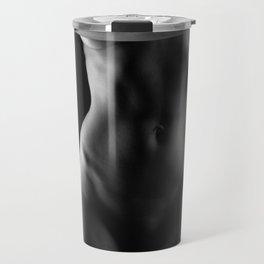 Naked woman body sculpture. Fine art photo of woman  body. Travel Mug