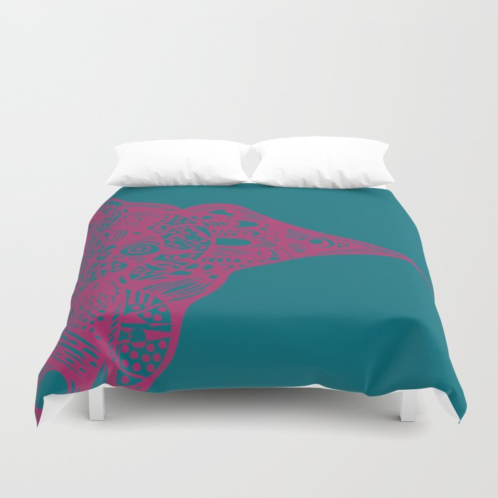 INK #11 Wild Bird Duvet Cover