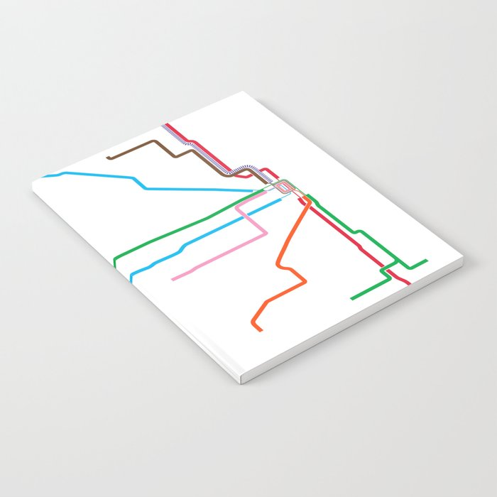 Chicago CTA Map, Chicago Train Map Art, Chicago L Train Map, Chicago on