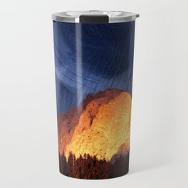 the rock at sunset Travel Mug
