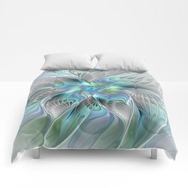 Abstract Butterfly, Fantasy Fractal Art Comforters