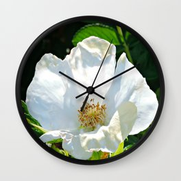 Beach Flower Wall Clock
