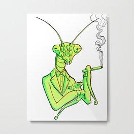 Smoking Mantis Metal Print