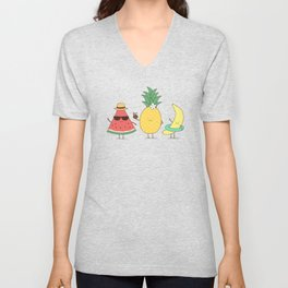 tropical fruits Unisex V-Neck