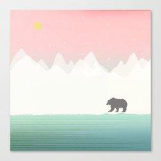 Bear in Winter Canvas Print
