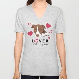 Lover Not a Fighter Unisex V-Neck