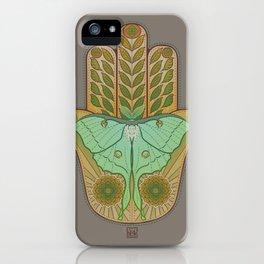 Luna Hamsa iPhone Case