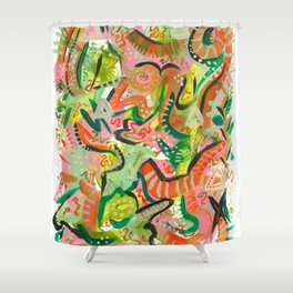 Acrylic Painting - Abstract 4 Shower Curtain