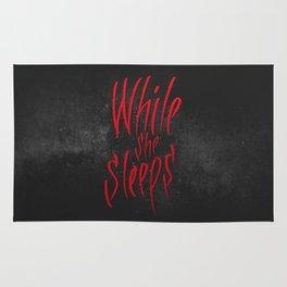 WhileSheSleeps Calligraphy Rug