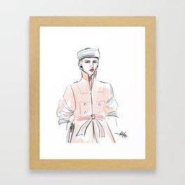 Rosie / Peach Trench Framed Art Print