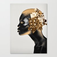 Canvas Prints featuring PORTRAIT 5 by dada22