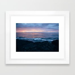 Violet Coast Framed Art Print