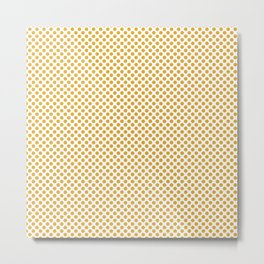 Golden Rod Polka Dots Metal Print