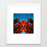 crab Framed Art Prints featuring CRAB by ED design for fun