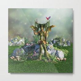 Earth Elemental Fairy Metal Print