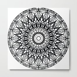 Cosmic Harmony Mandala Metal Print