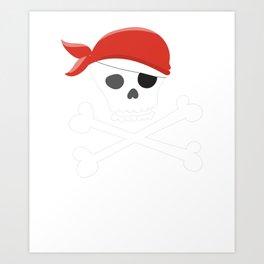 Animal Pirates Animal Pirate Skull Crossbones Pirate Themed Birthday Art Print