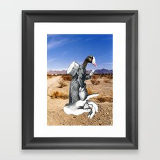 Don't Forget To Write Framed Art Print