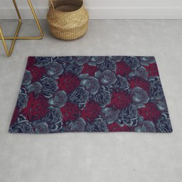 Stop and Smell the Roses CRIMSON MOONLIGHT Rug