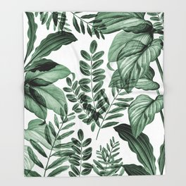 Tropical Rainforest - greenery Throw Blanket