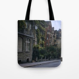 Vintage Color Photo * Lucerne * Switzerland * Apartments * Ivy * Flowers * 1950's Tote Bag