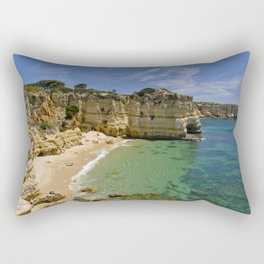 Small cove on the Algarve, Portugal Rectangular Pillow