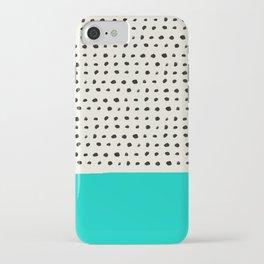 Aqua x Dots iPhone Case