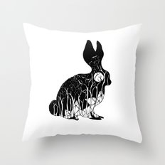 Leporidae Throw Pillow