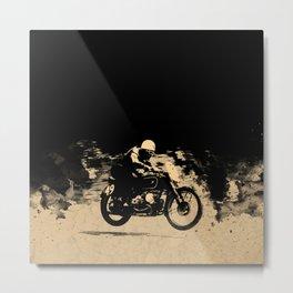 The Vintage Motorcycle Racer Metal Print