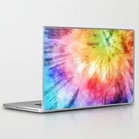 tie dye Laptop & iPad Skins featuring Tie Dye Watercolor by Phil Perkins