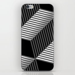 Abstract vector seamless moire pattern with cubic lattice lines. iPhone Skin