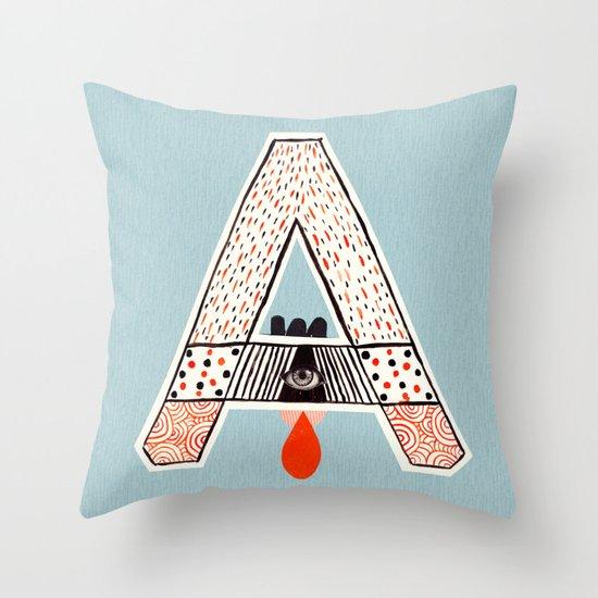 "a to z - ""A"" Throw Pillow"