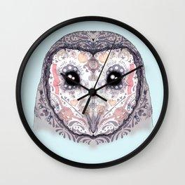 Sugar Skull Labyrinth Owl Wall Clock