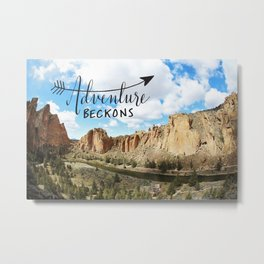 adventure beckons- Smith Rock Oregon Metal Print