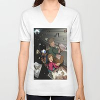 returns V-neck T-shirts featuring Gravity Falls Returns by Auraya Frost