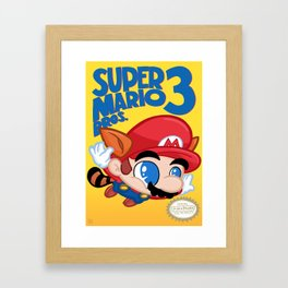 Remade: Super Mario 3 Framed Art Print