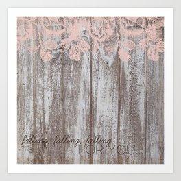 Falling, Falling, Falling... Art Print