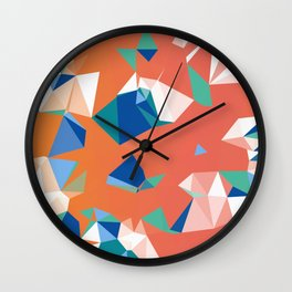 SOLAR NEBULA - ORANGE Wall Clock