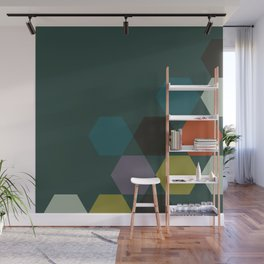 cluster || green night Wall Mural