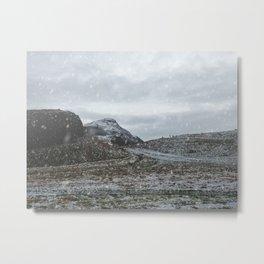 A Snowy Arthur's Seat Metal Print
