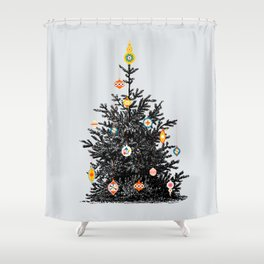 Decorated christmas tree Shower Curtain