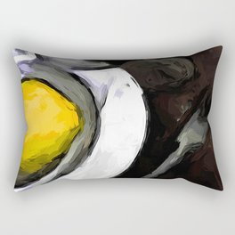 Lemon of Yellow in a White Bowl with Shadows 1 Rectangular Pillow
