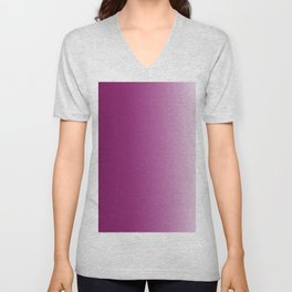 Ombre in Purple White Unisex V-Neck