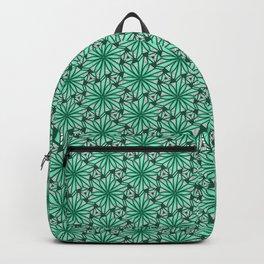 Geometry Teal Angular Geometric Floral Turquoise Green Cool Mint Green Radial Design Spirit Organic Backpack