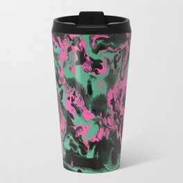 Pink and Teal Swirl - Wet Travel Mug