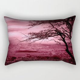 Rosy Evening Rectangular Pillow