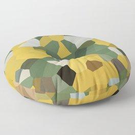 Crystal Moon Green Yellow Floor Pillow