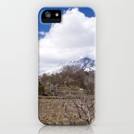 Sicilian Volcano ETNA iPhone Case