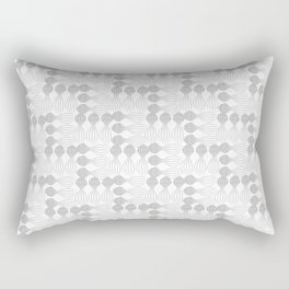 Silver pear curvy funny shaped lines pattern Rectangular Pillow